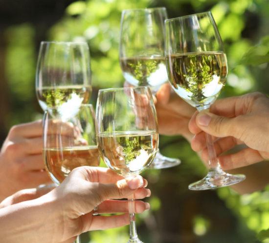 Kieliszki białego wina